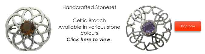 Celtic Stoneset Brooch