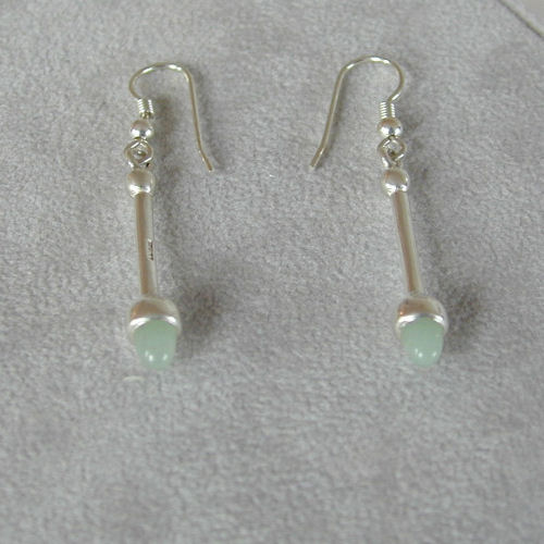 Sollas Silver Earrings Jade