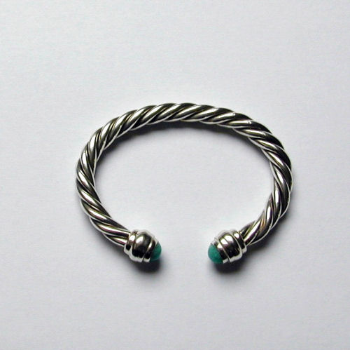 Stone set 4 Strand Torc Bangle