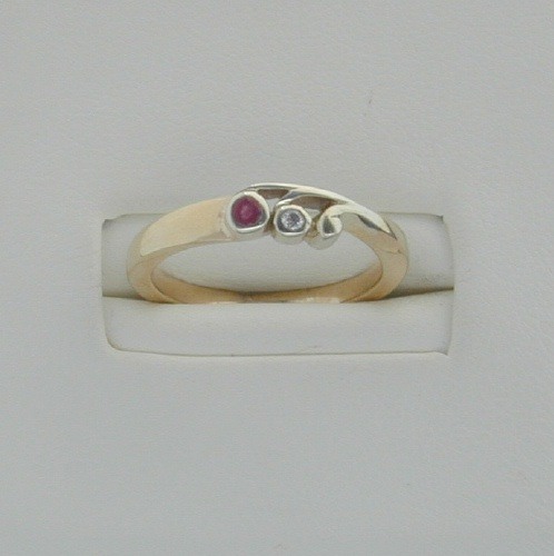 Tay Ring Ruby/Diam