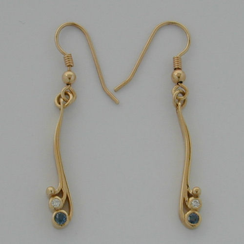 Tay Earrings Saph/Diamond