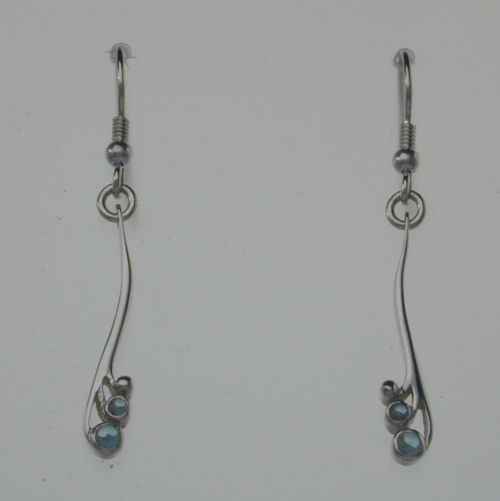 Tay Earrings Blue Topaz