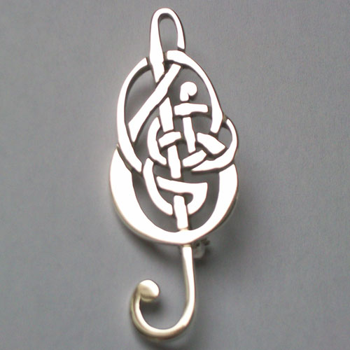 Celtic Treble Clef Brooch