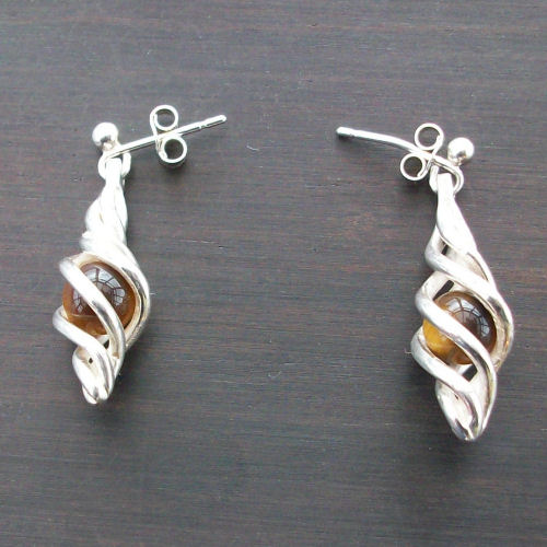 Eilidh Tigers Eye Earrings