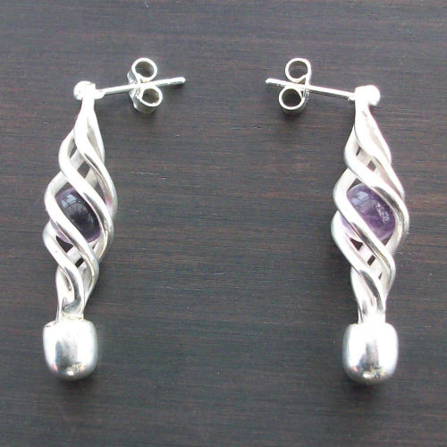 Eilidh Amethyst Earrings