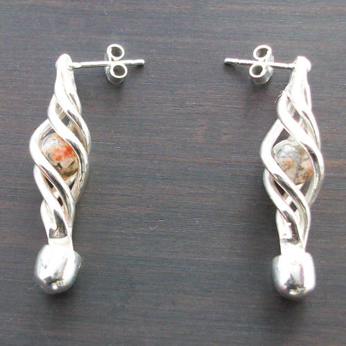 Eilidh Moss Agate Earrings