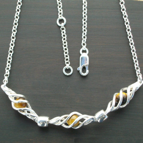 Eilidh Tigers eye Necklace
