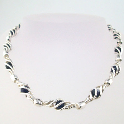 crystal vaults sodalite necklace