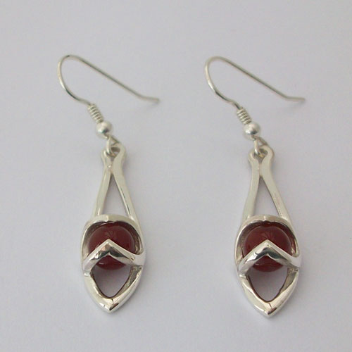 Enya Cornelian Earrings