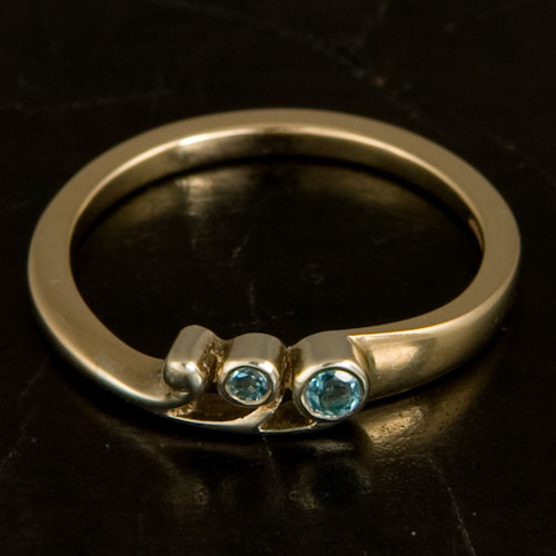 Tay Ring Blue Topaz