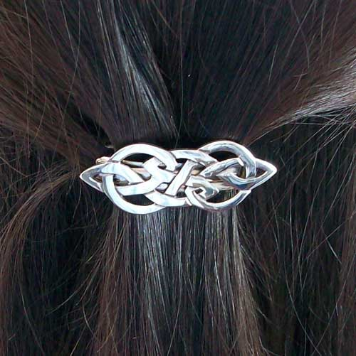 Celtic Silver Hair Clasp