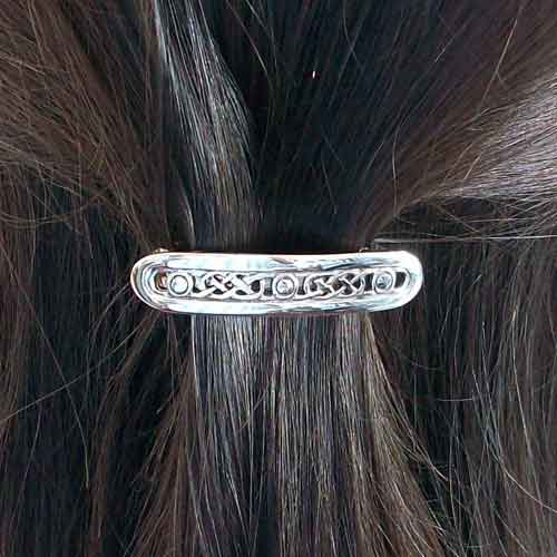 Silver Celtic Hair Clasp
