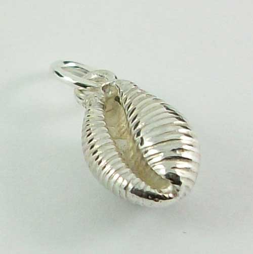 Silver Cowrie Pendant