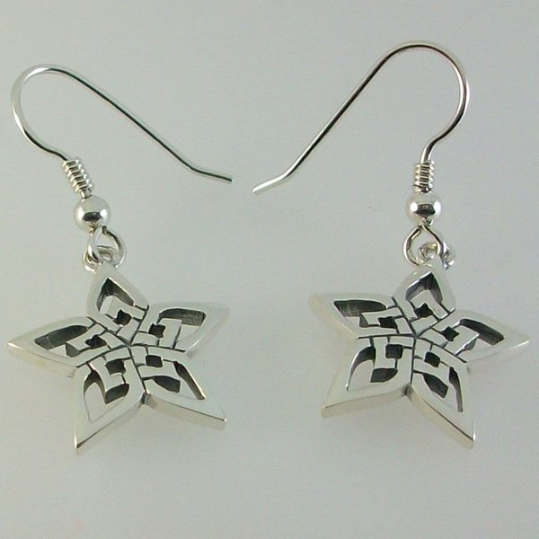 Hebridean Star Silver Earrings
