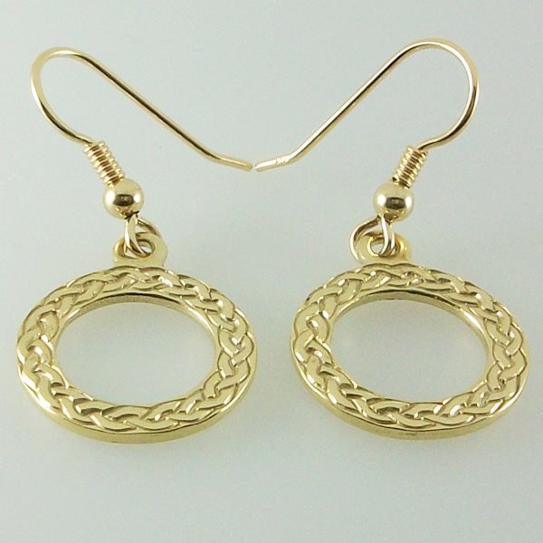 Gold Circle Earrings Medium