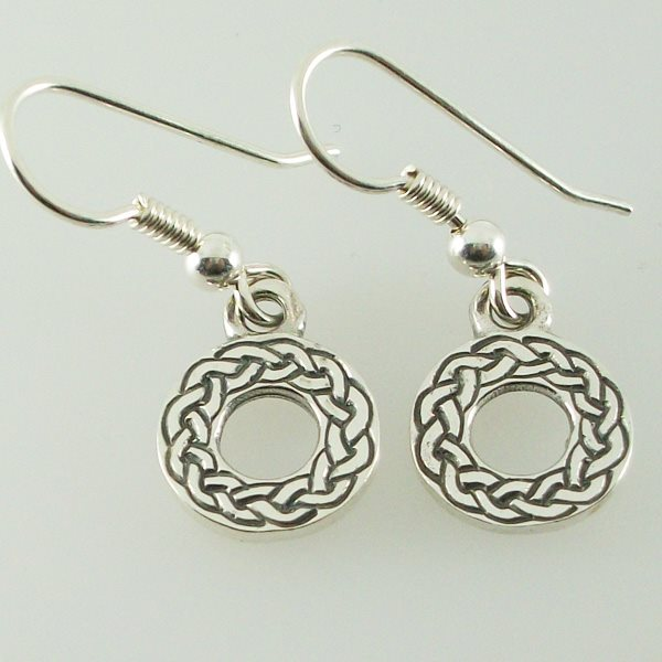 Small Celtic Circle Earrings