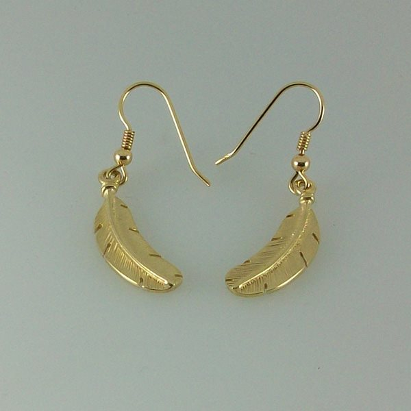 Feather Earrings 9ct