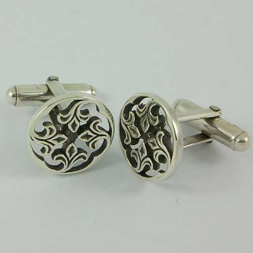 Sandray Silver Cufflinks