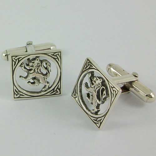 The Lion Silver Cufflinks