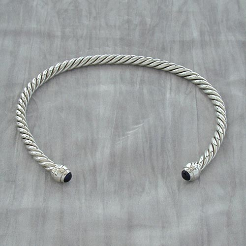 4 Strand Stone Set Neck Torc