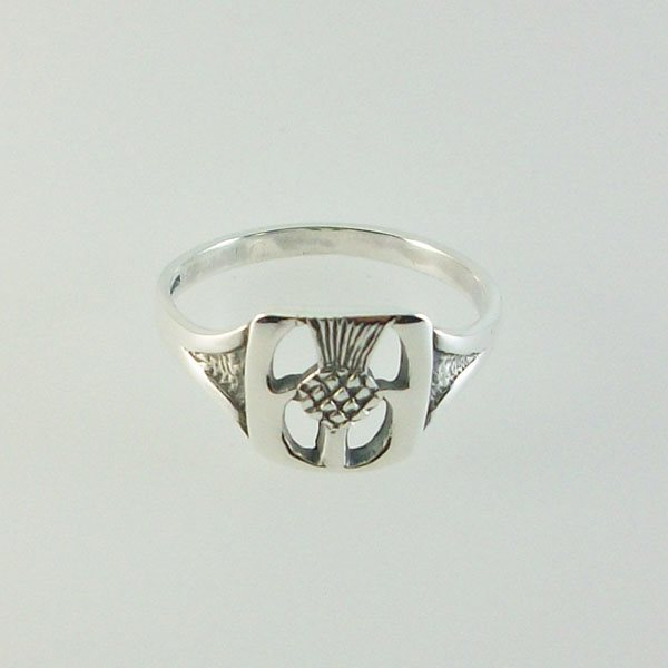 Thistle Silver Ring