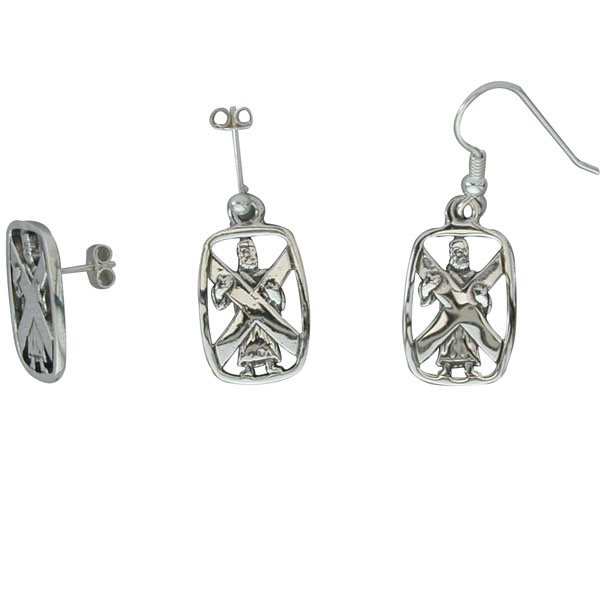 St Andrew Silver Earrings