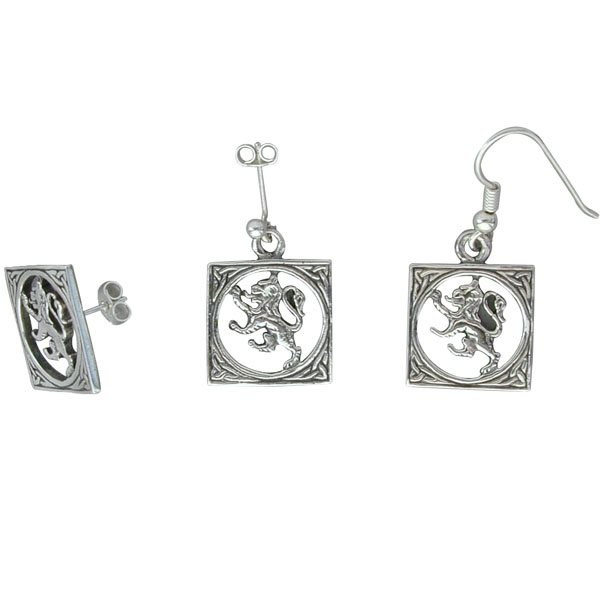 The Lion Silver Earrings