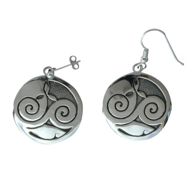 Mhorain Silver Earrings