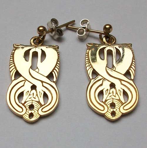 Aberlemno Gold Earrings