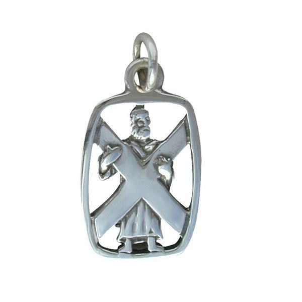 St Andrew Charm Silver