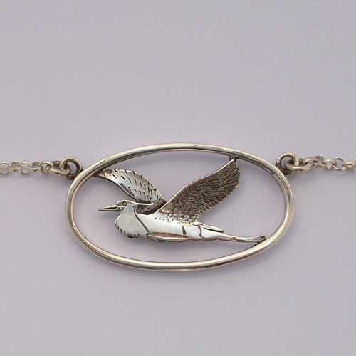 Heron in Flight Necklace