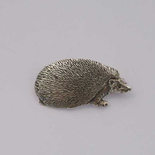 Hedgehog Brooch Silver